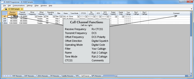 RT Systems IC-9100 Radio Programming Software