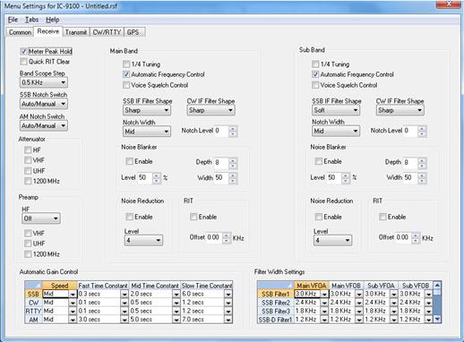 RT Systems IC-9100 Radio Programming Software