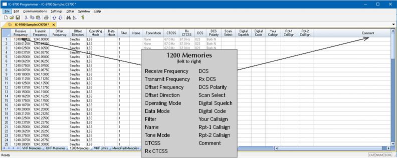 RT Systems IC-9700-U Radio Programming Software