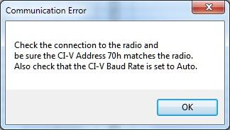 Communications Error IC-7000